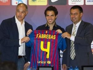 Фабрегас игрок Барселоны